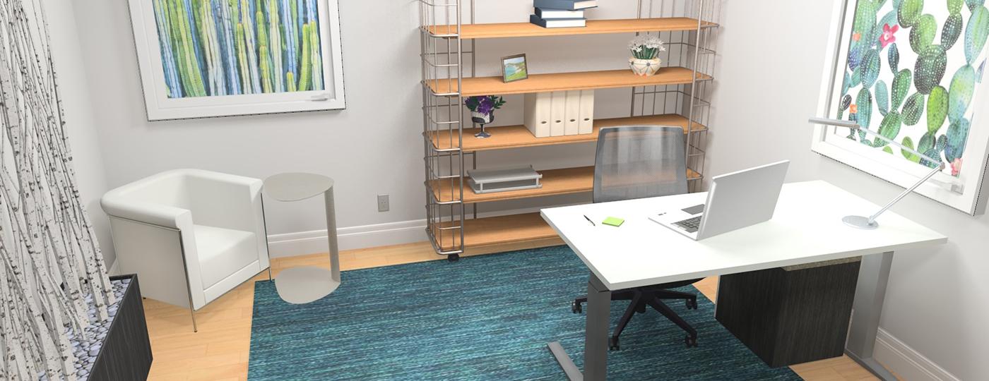 3D Home office design