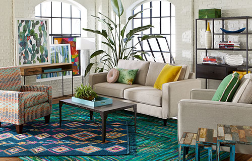Addison sofa with Mackenzie coffee table