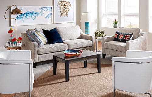 Hensley Living Room with Blanca Chairs