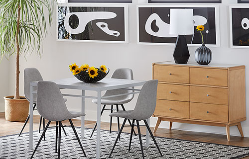 Perth Dining Table with Keagan Chairs