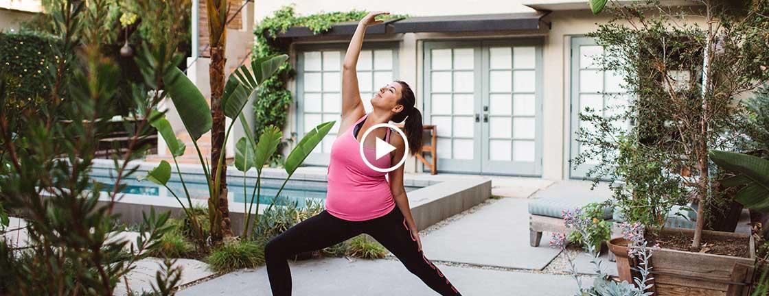 Bridget doing yoga