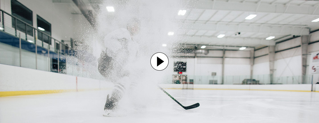 Man playing hockey