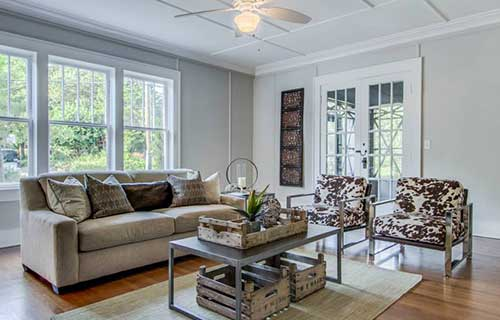 Home staged by Home Star Staging using CORT furniture