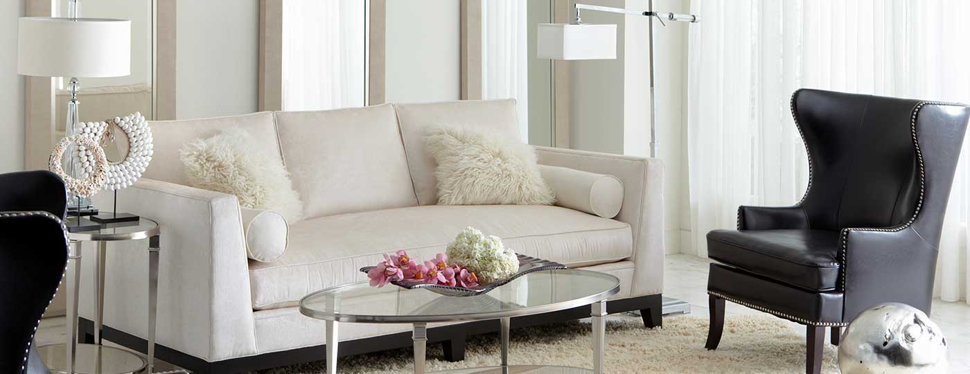 NYC apartment living room with CORT Furniture