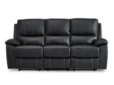 Greeley Black Leather Reclining Sofa