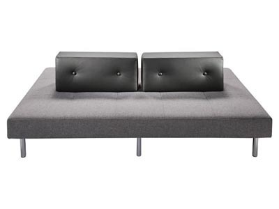 Island Sofa, Gray Back, Lava