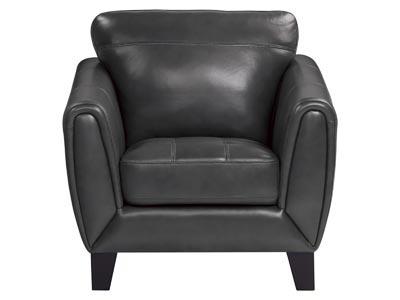 Neuvein Gray Leather Chair
