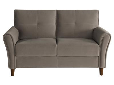 Rent the Dunleith Brown Loveseat