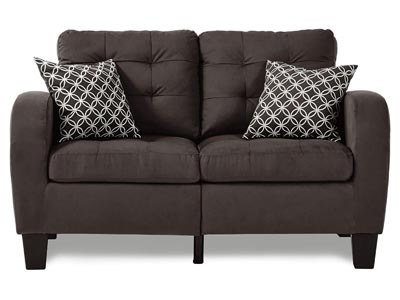 Rent the Sinclair Chocolate Loveseat