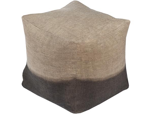 Rent the Dip Dyed Ottoman - Taupe