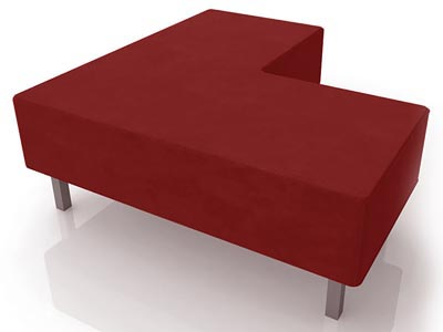 Soho Sectional Ottoman, Red