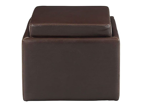 Rent the Butler Ottoman - Brown
