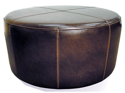 Rent the Wheel Ottoman - Brown