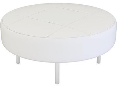 Endless Round Ottoman, White