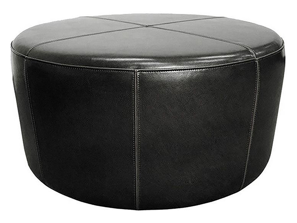 Rent the Wheel Ottoman - Black