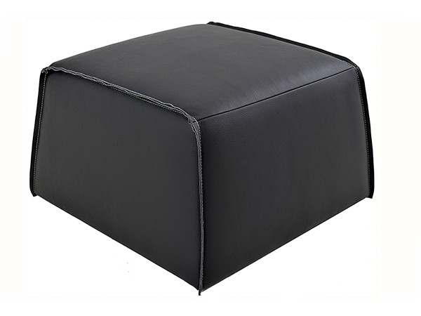 Rent the Geary Leather Ottoman
