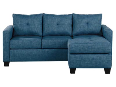 Rent the Phelps Blue Reversible Sofa/Chaise