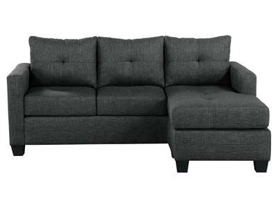 Rent the Phelps Dark Gray Reversible Sofa/Chaise