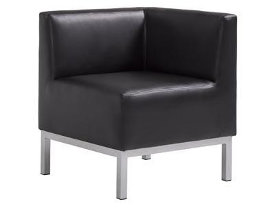 Heathrow Corner Chair, Black