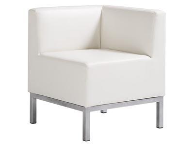 Heathrow Corner Chair, White