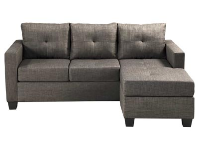 Rent the Phelps Light Gray Reversible Sofa/Chaise