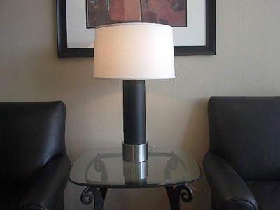 Cylinder  Black Steel CTable Lamp