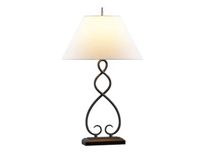 Rent the Black Iron Table Lamp