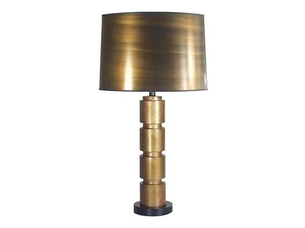 Rent the Stacked Gold Table Lamp