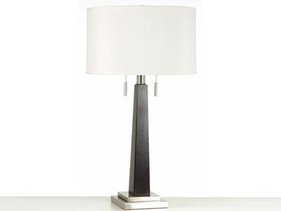 Rent the Wood Column Table Lamp