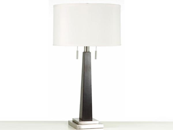 The Wood Column Table Lamp Cort, Twin Pull Chain Table Lamp