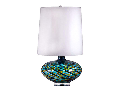 Rent the Aqua Swirl Table Lamp