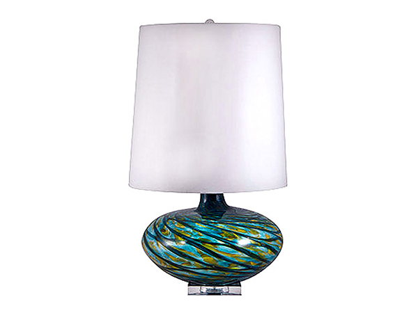 Rent the Aqua Swirl Table Lamp