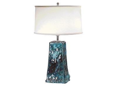 Rent the Turquoise Recycled Glass Table Lamp