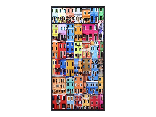 Rent the Colorful Houses Wall Art