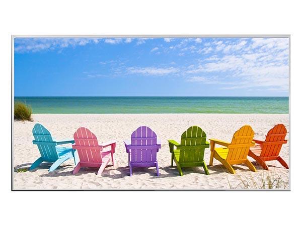 The Beach Chairs Wall Art