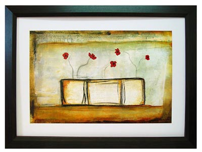 Wall Art Red Poppies