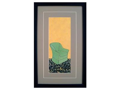 Green Chair Wall Art