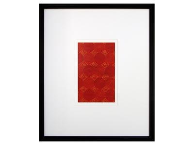 Fusion I Red Spirals Wall Art