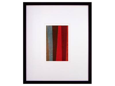 Fusion II Wide Color Bands Wall Art