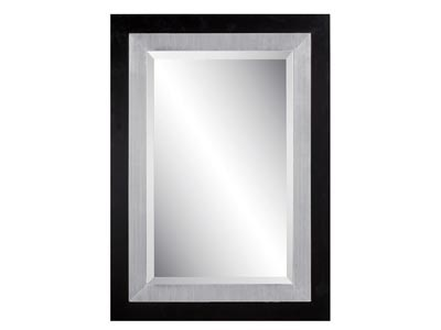 Rent the Black and Silver Rectangle Mirror