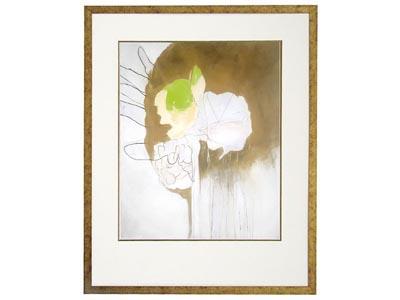 Rent the Flowered Tassel Framed Wall Art