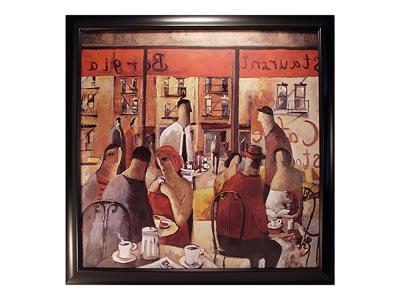 Cafe New York Framed Artwork