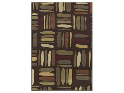 "Carlisle Chocolate  4'11"" x 7' Area Rug"