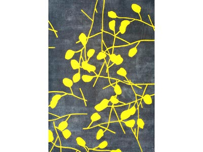 Rent the Festival Gray and Yellow 5' x 8' Area Rug