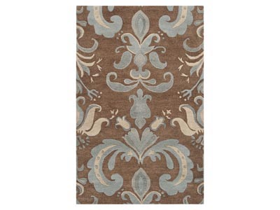 Kate Brown and Blue 5'x8' Area Rug
