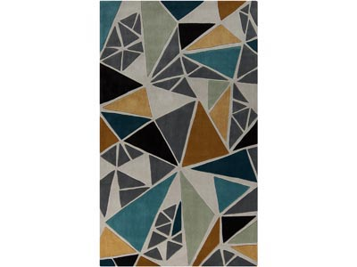 Rent the Cosmopolitan Teal/Gold 8' x 11' Area Rug
