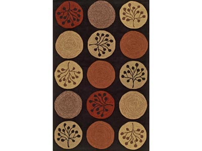 Rent the Toned Circles 8' x 10' Area Rug