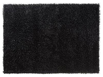 Shag Black 10'x10' Area Rug