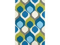 Rent the Aloft Teal 8' x 10' Area Rug