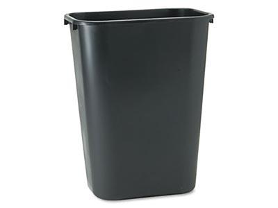 Large Black Trash Can